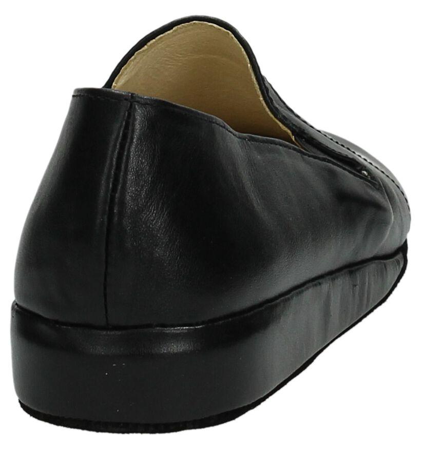 Lina Pantoufles fermées en Noir en cuir (112197)
