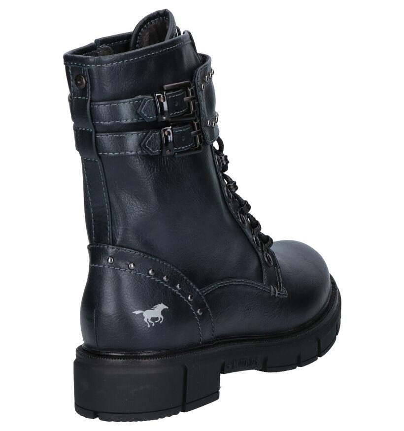 Mustang Zwarte Boots in kunstleer (260337)