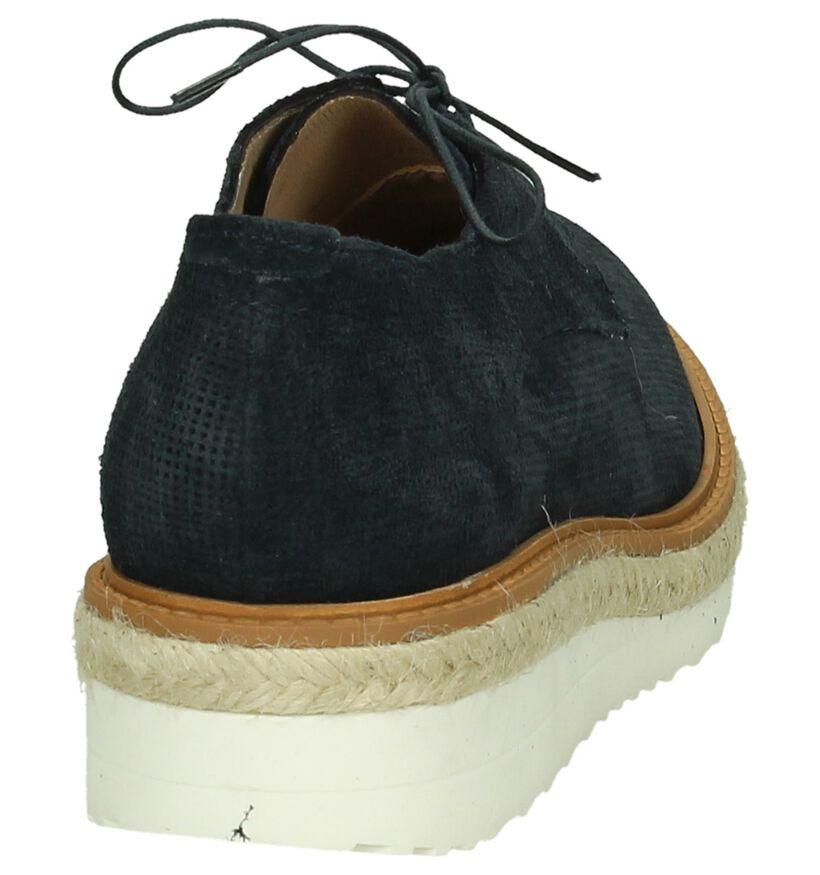 Hampton Bays Chaussures à lacets en Bleu foncé en nubuck (190599)