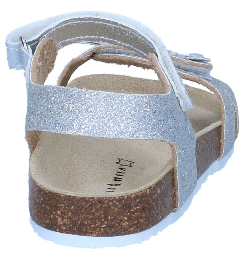 Zilveren Sandalen Milo & Mila in kunstleer (245110)