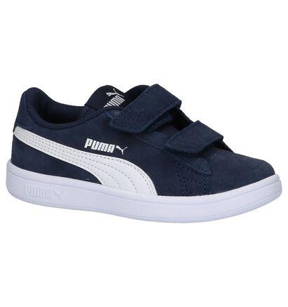 Donkerblauwe Sneakers Puma Smash v2, Blauw, pdp