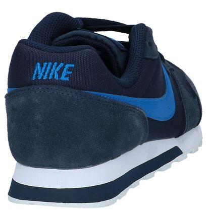 Zwarte Lage Sneakers Nike MD Runner, Blauw, pdp