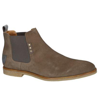 Pantofola d'Oro Chaussures hautes en Vert kaki en nubuck (240825)