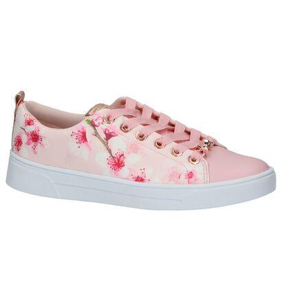 Roze Ted Baker Ahfira Sneakers met Bloemenprint, Roze, pdp