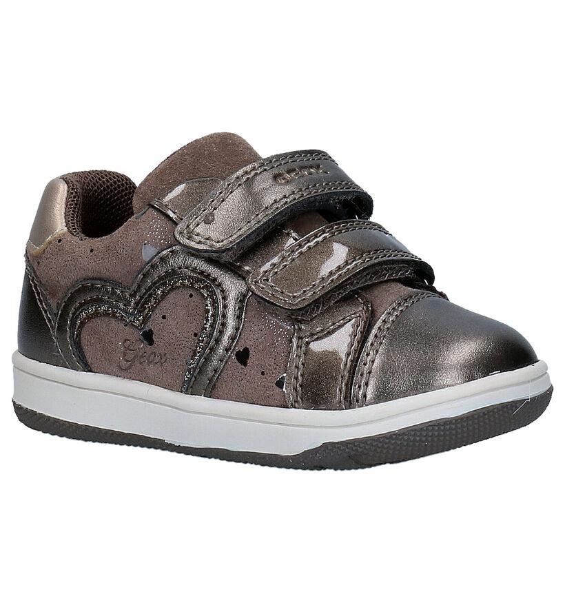 Geox Flick Bronzen Babyschoentjes in kunstleer (278280)