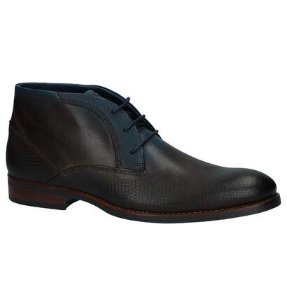 Via Borgo Berto Donkerbruine Geklede Boots, Bruin, pdp
