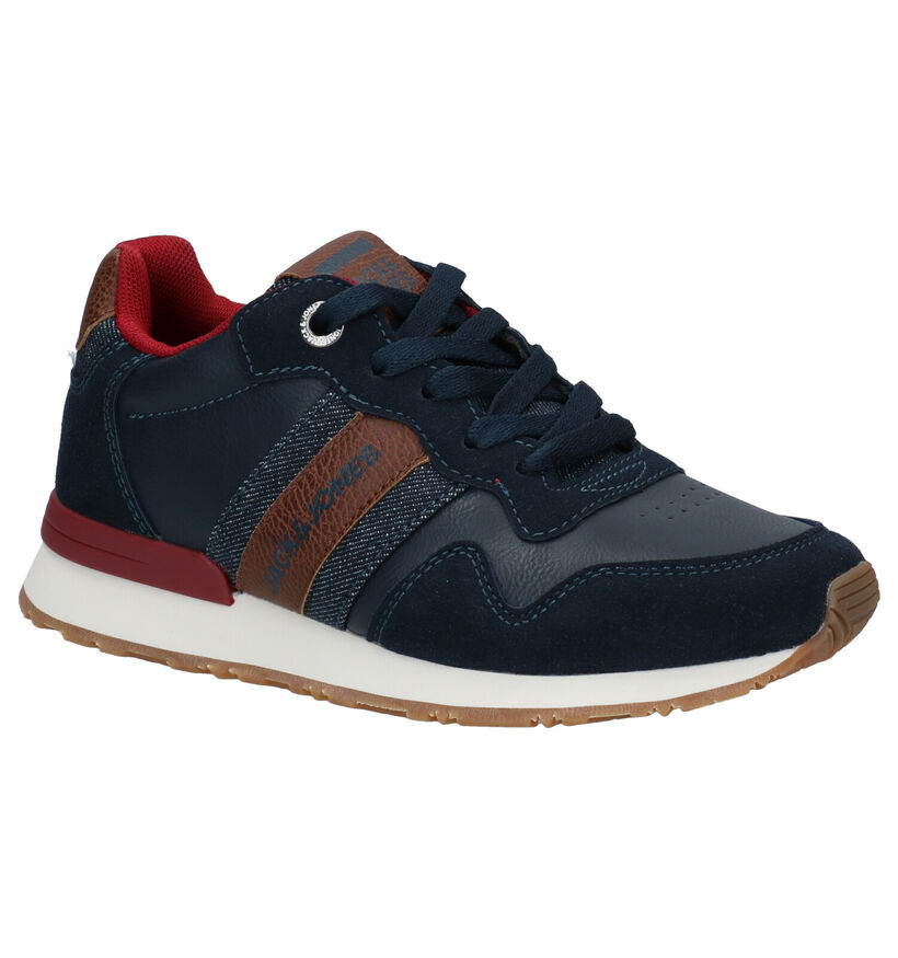Jack & Jones JR Stellar Casual Blauwe Veterschoenen in kunstleer (279191)