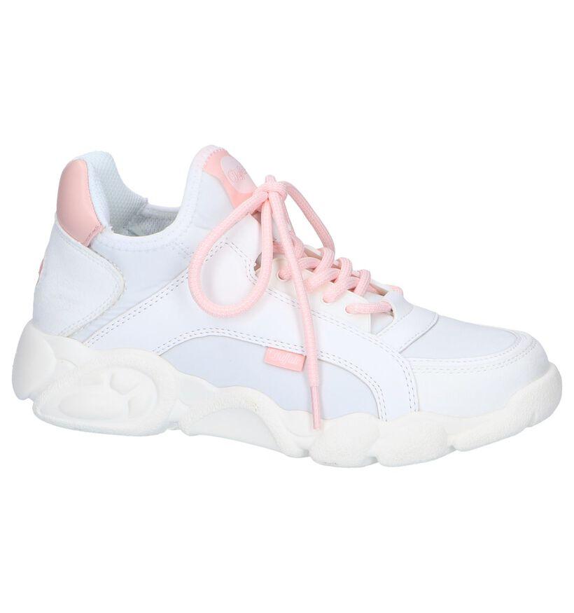 Witte Slip-on Sneakers Buffalo Cali in kunstleer (240464)