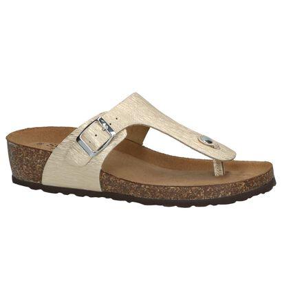 Scapa Nu-pieds à talons en Or en simili cuir (246050)