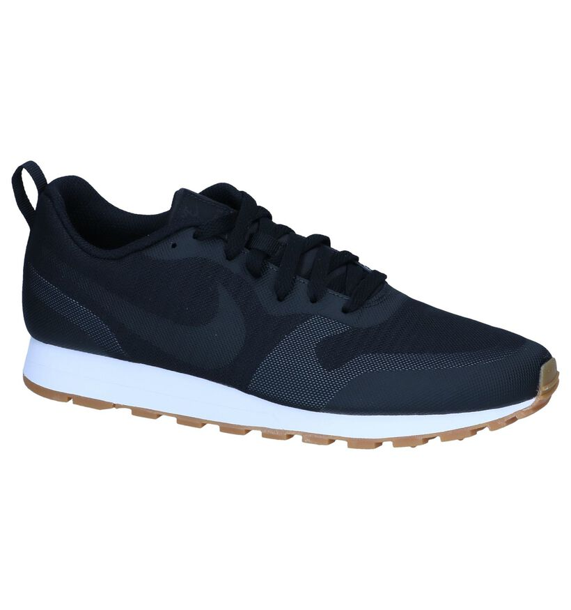 Zwarte Sneakers Nike MD Runner in stof (237858)