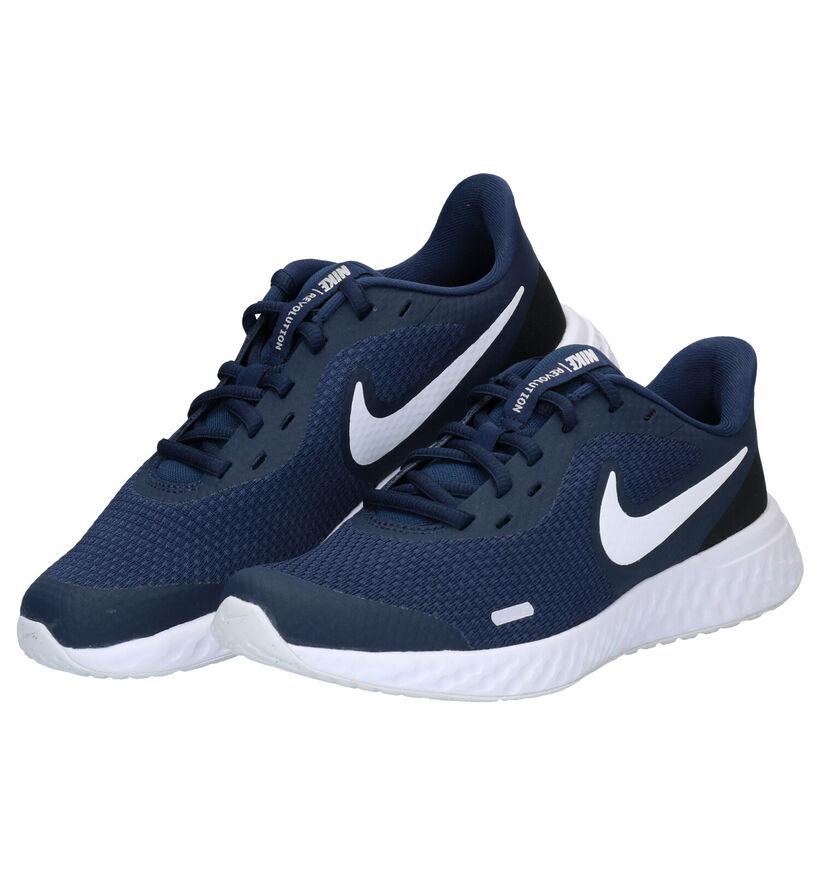Nike Revolution 5 Baskets en Noir en textile (283822)