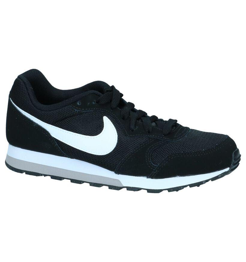 Nike MD Runner 2 Baskets en Noir en cuir (261640)