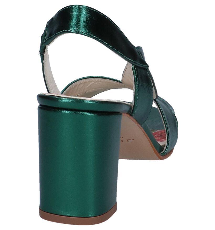 JHay Sandales à talons en Vert foncé en cuir (247951)