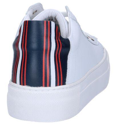 Hampton Bays Baskets basses en Blanc en cuir (241508)