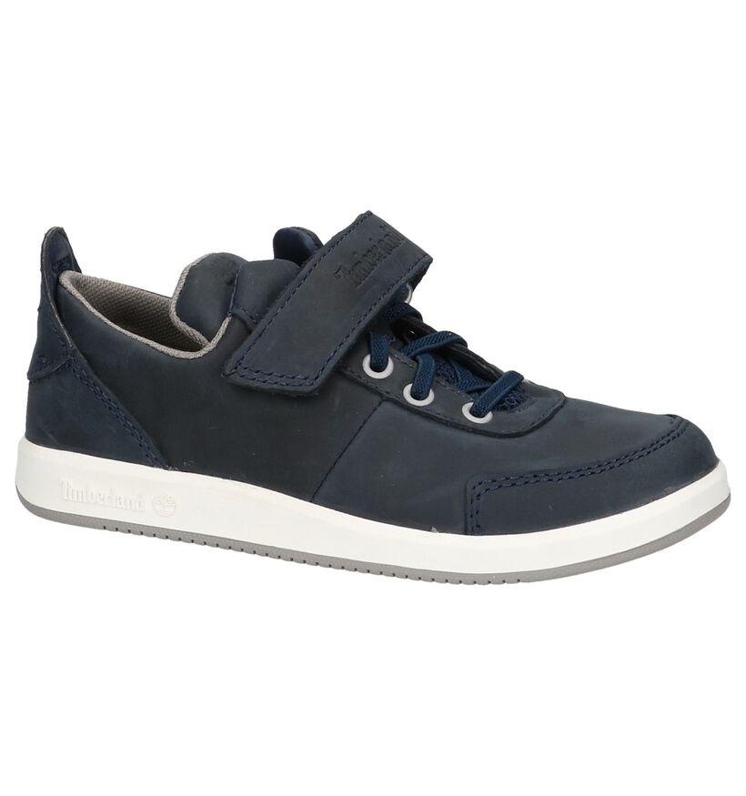 Timberland Court Side Oxford Chaussures à Velcro en Bleu en cuir (212183)