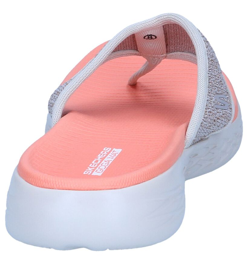 Lichtbeige Teenslippers Skechers in stof (247170)