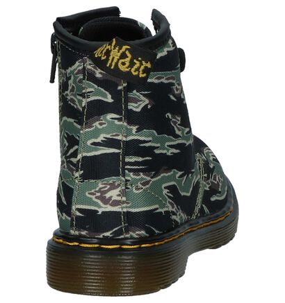 Groene Dr. Martens Camo Boots in stof (226011)