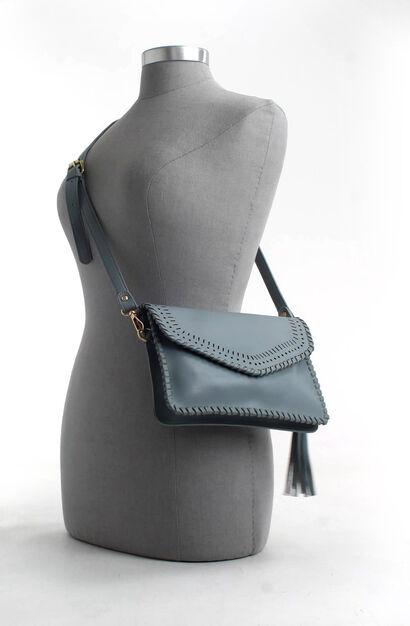 PB Fashion Sacs porté croisé en Bleu clair en imitation cuir (206465)