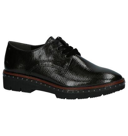 Marco Tozzi Chaussures à lacets en Noir en cuir (207257)