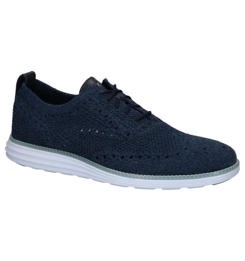 Cole Haan Original Grand Chaussures à lacets en Bleu en textile (267439)