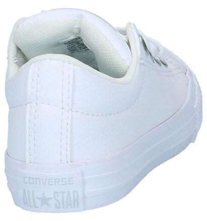 Converse Chuck Taylor All Star Baskets basses en Blanc en simili cuir (210589)