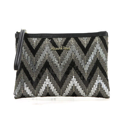 Zwarte Kisses of Pearl Clutch in kunstleer (207428)