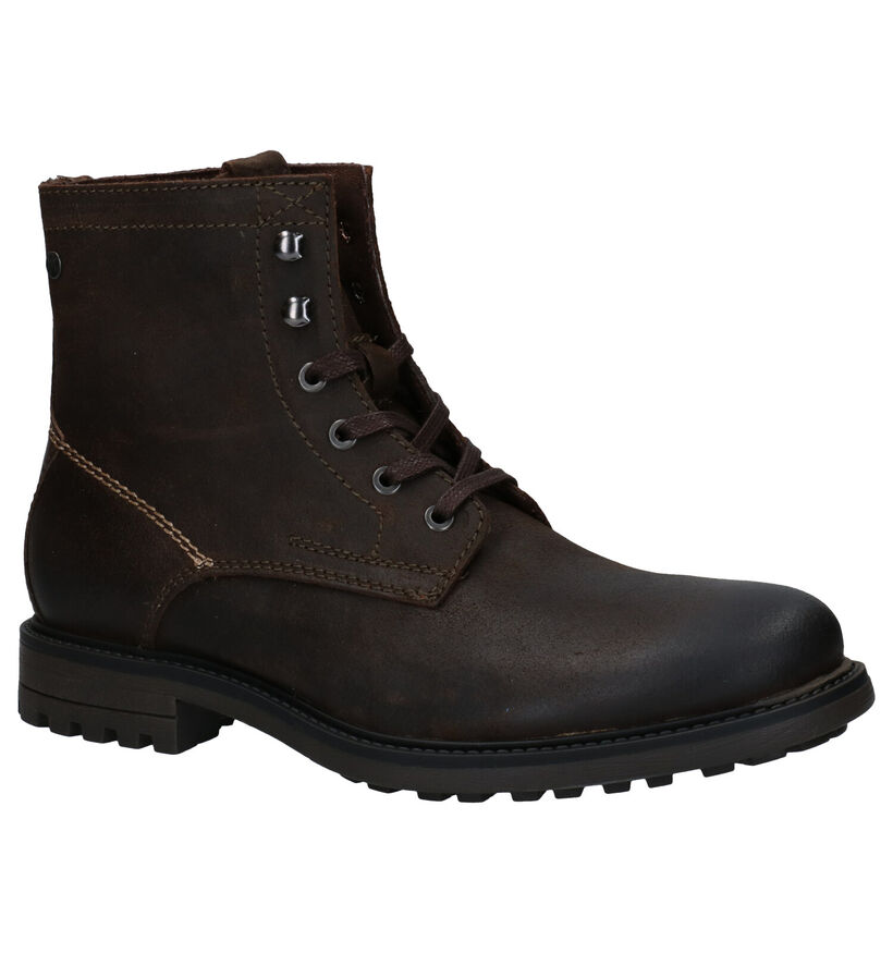 Jack & Jones Ballard Bottines en Brun en nubuck (278343)