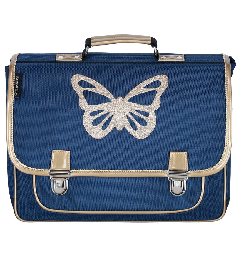 Caramal & cie. Papillon Cartable en Bleu en simili cuir (277365)