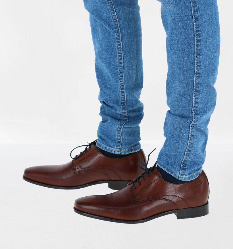 Van Lier Chaussures habillées en Brun foncé en cuir (291345)