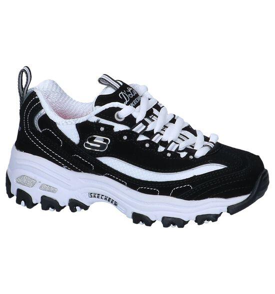 Zwarte Lage Sneakers Skechers D'Lites Biggest Fan