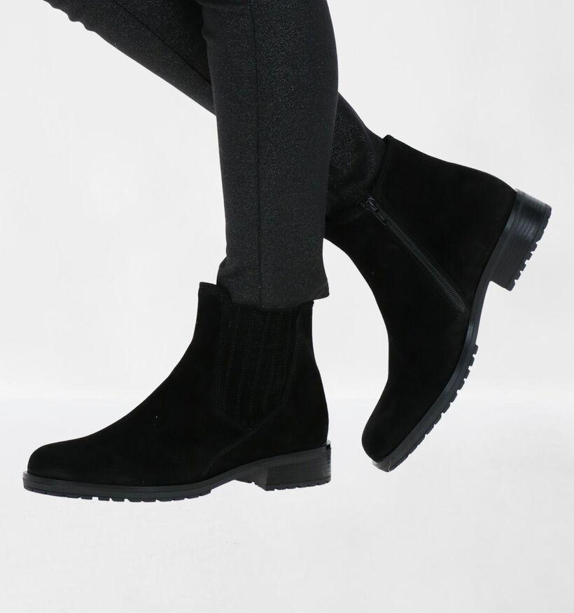 Gabor Zwarte Boots in daim (282373)