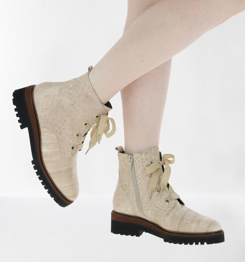 Softwaves Bottines en Beige clair en cuir (281934)