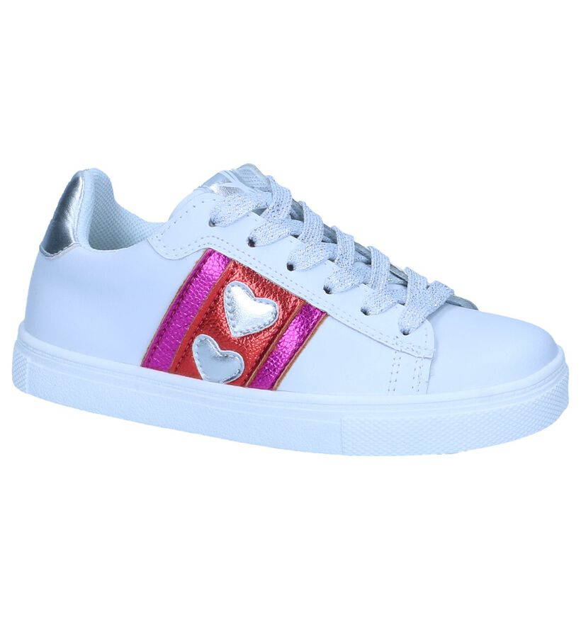 Milo & Mila Chaussures basses en Blanc en cuir (245149)