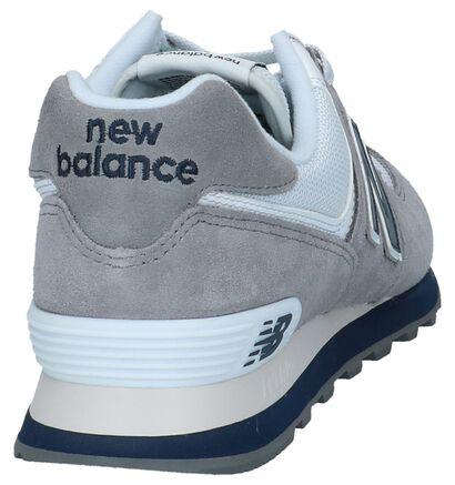 New Balance 574 Baskets basses en Gris en textile (249895)