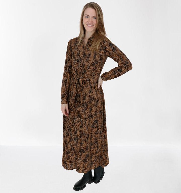 Vero Moda Jordin Robe Chemise en Brun/Noir