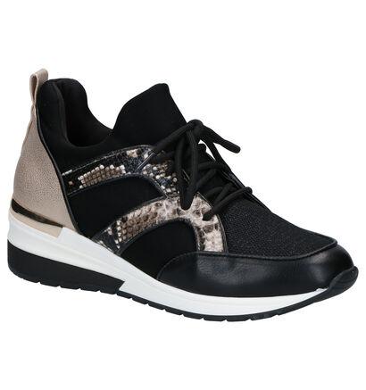 La Strada Chaussures slip-on en Noir en simili cuir (277354)