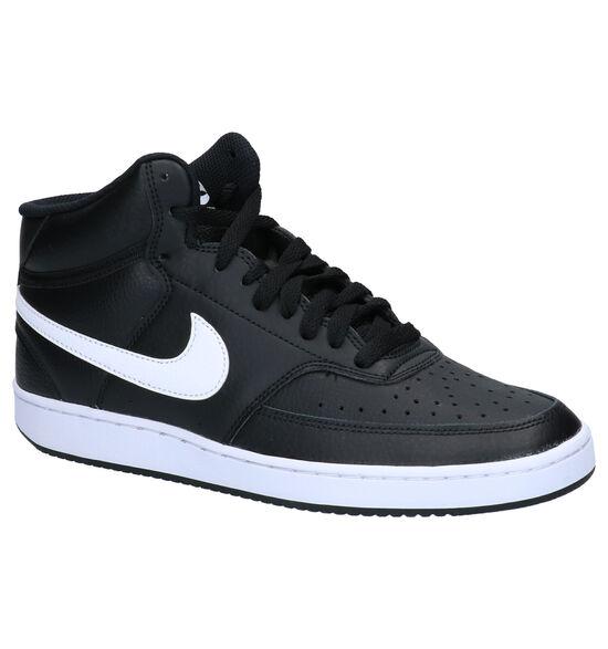 Nike Court Vision Mid Baskets en Noir