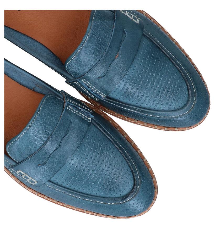 Pikolinos Merida Blauwe Loafers in leer (289276)