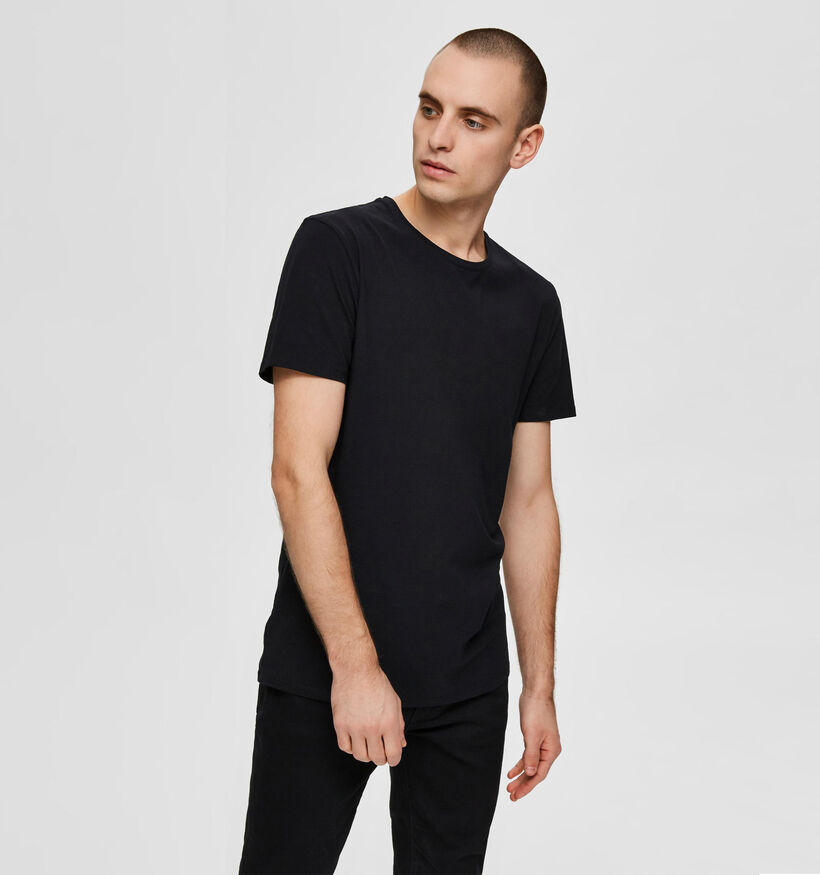 Selected Homme 3 Pack Zwarte T-shirts (281405)