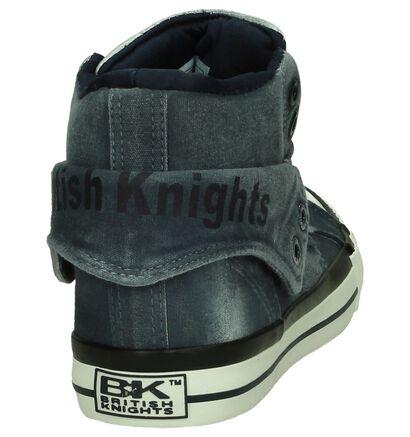 BK Donkeblauwe Sneakers in stof (194115)