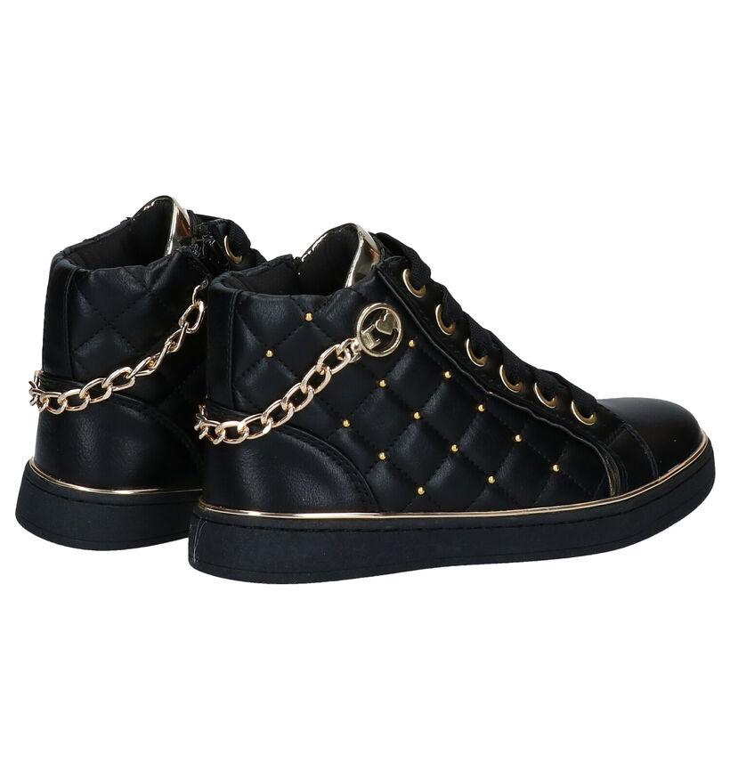 Asso Zwarte Hoge Schoenen in kunstleer (278456)