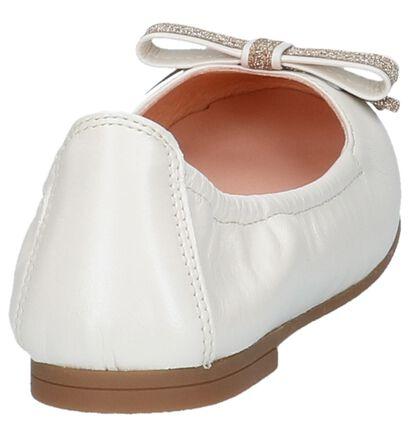 Lichtbeige Unisa Ballerina's in leer (217296)
