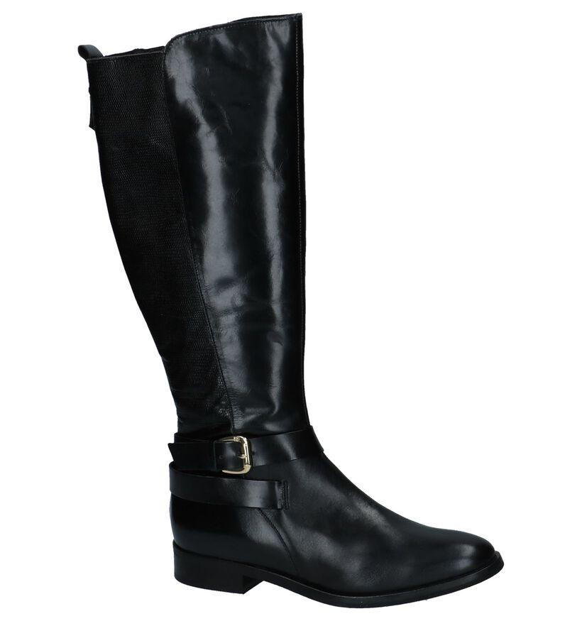 Hampton Bays Bottes hautes en Noir en cuir (226649)