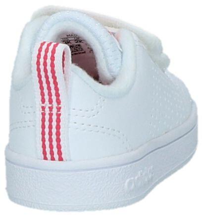 Witte Babysneakers adidas VS Advantage Clean, Roze, pdp