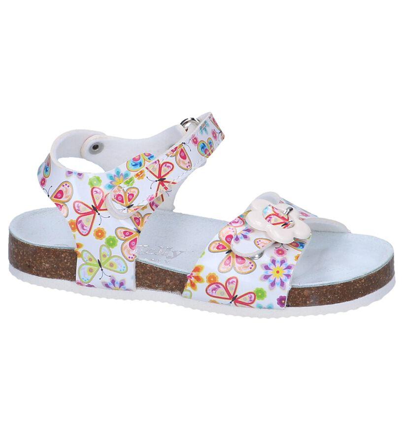 Witte Sandalen Lelli Kelly Sonia Velcro in kunstleer (245680)