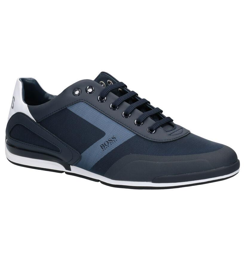 Hugo Boss Saturn Chaussures à lacets en Noir en simili cuir (267062)