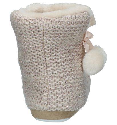 Youh! Pantoufles fermées en Beige clair en textile (234589)