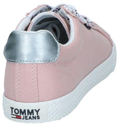 Tommy Jeans Baskets basses en Rose clair en textile (241775)