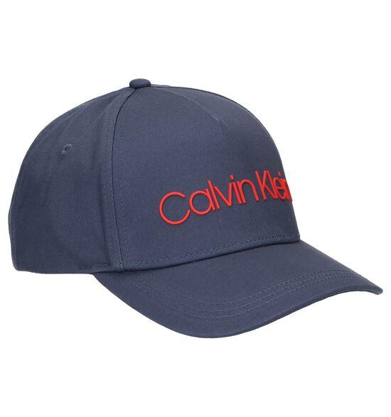 Donkerblauwe Pet Calvin Klein Sliver Contrast Trucker Cap