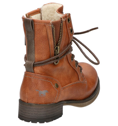 Mustang Cognac Boots in kunstleer (259210)